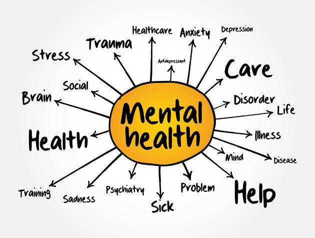 Counselling therapy online. Mental health counsellor in Glasgow and Sharjah. Clarity. Mental health diagram.